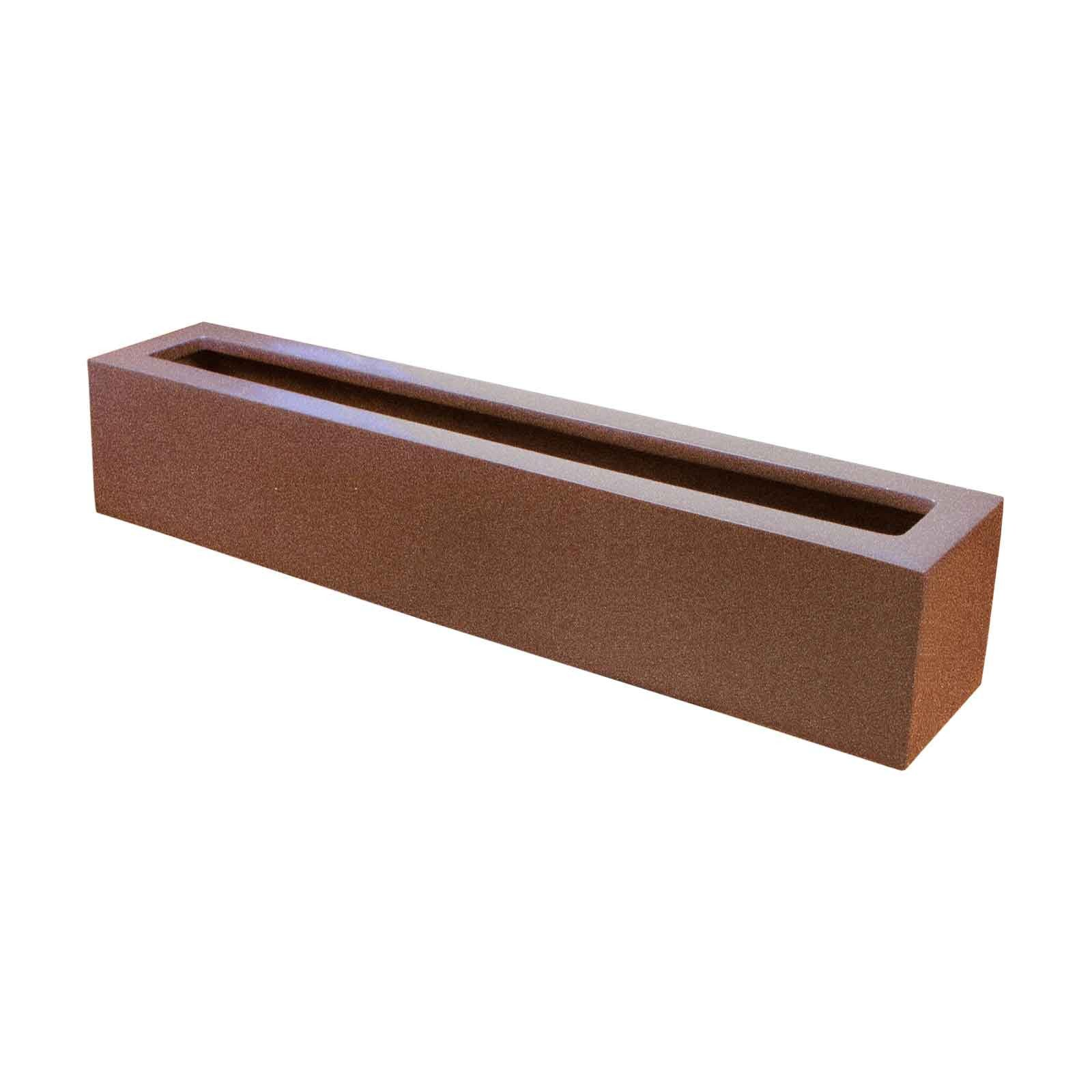 Narrow Outdoor Planter Box - Fiberglass - 42'L x 8'W x 8'H